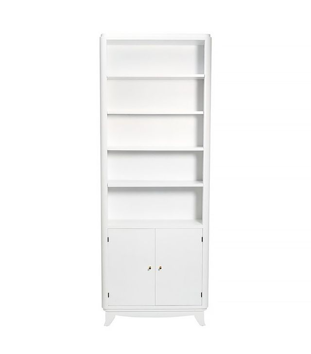 Consort Narrow White Wooden Bookshelf