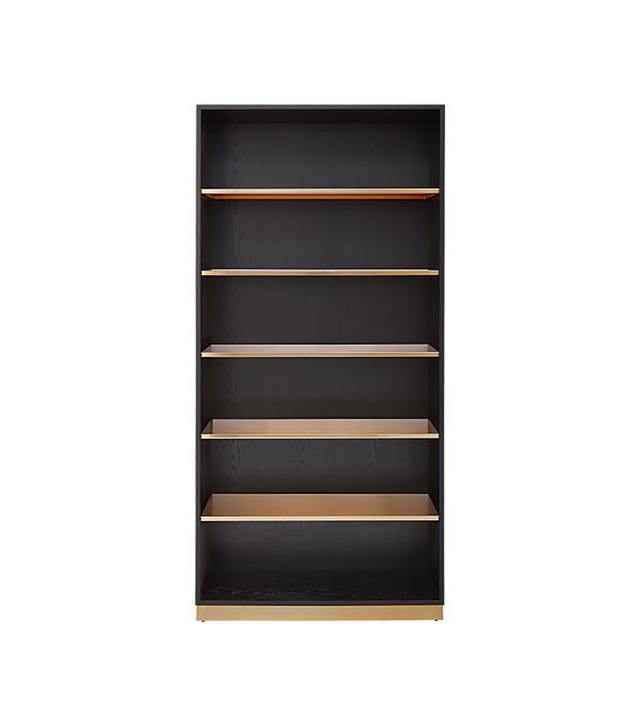 CB2 Linden Black Bookcase