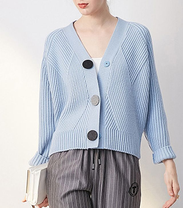 Few Moda Retro Three Button Knit Cardigan