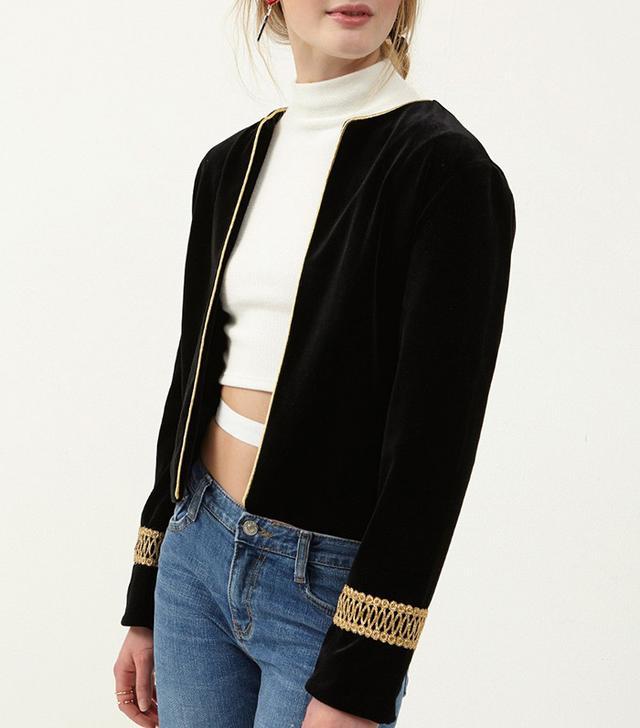 Storets Eva Embellished Velvet Jacket