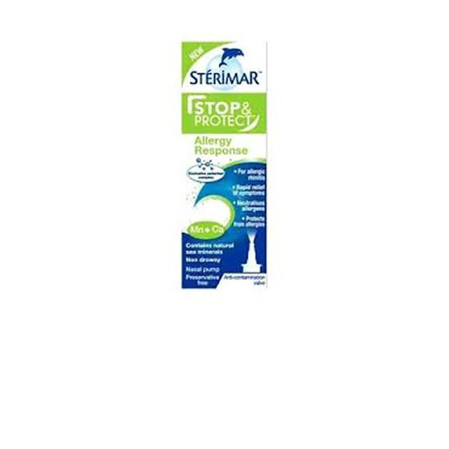 Hay fever symptoms: Sterimar Stop and Protect Allergy Response Nasal Spray