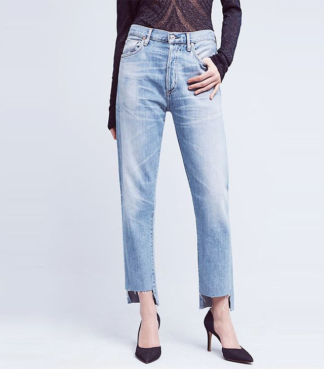 Citizens of Humanity Liya Ultra High-Rise High-Low Crop Jeans