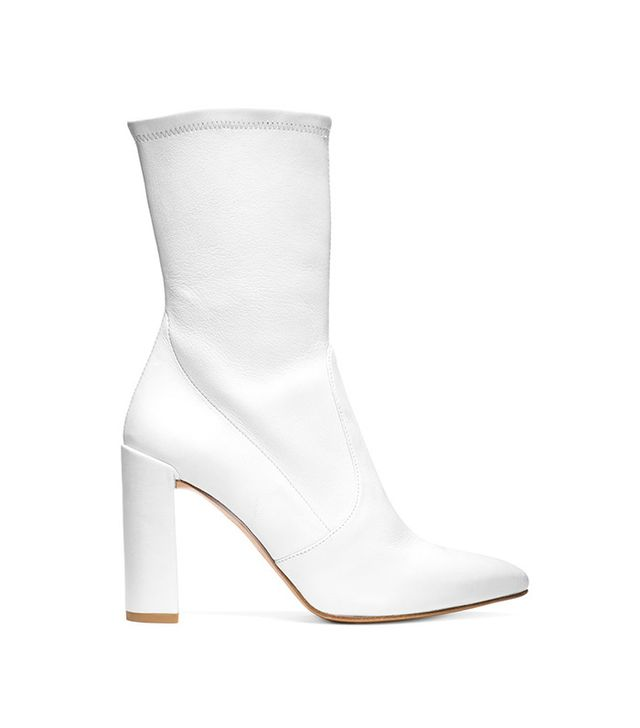 Stuart Weitzman Clinger Booties in Snow