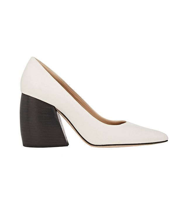 Helmut Lang Bombe Leather Pumps