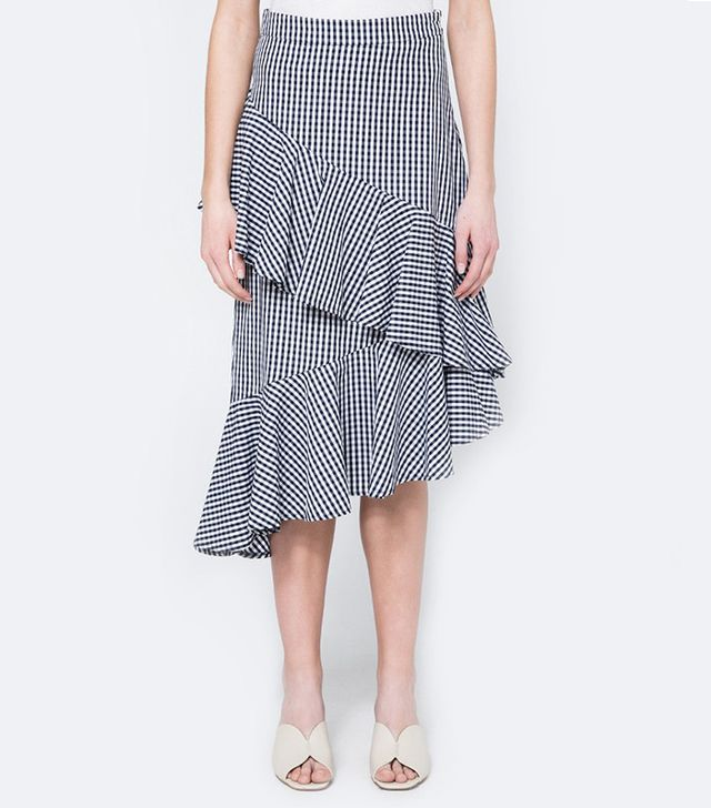 Farrow Gingham Ruffle Skirt