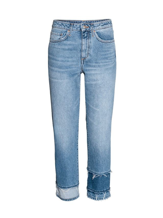 H&M Straight High Cropped Jeans