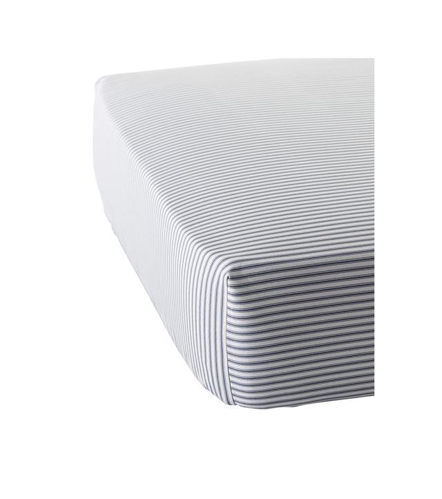 Ticking Stripe Crib Sheet