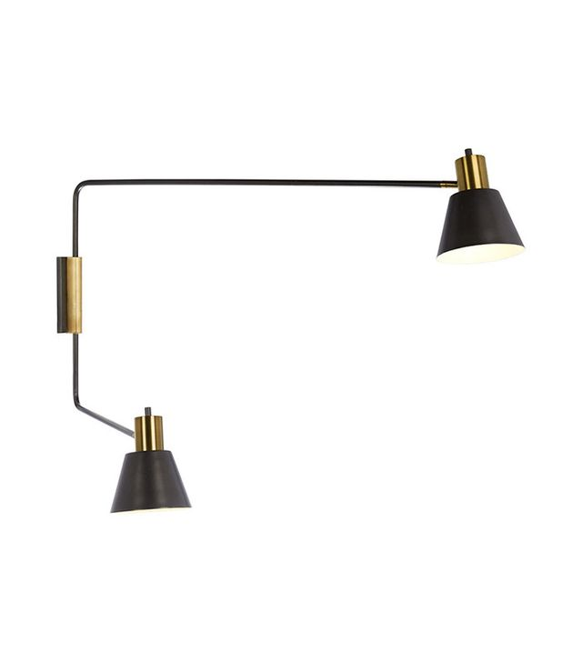 Rejuvenation Cylinder Task Double Arm Wall Lamp