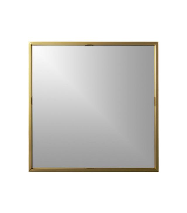 "CB2 Gallery Brass 33"" Square Wall Mirror"