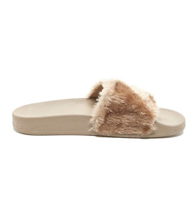 Forever 21 Faux Fur Slides