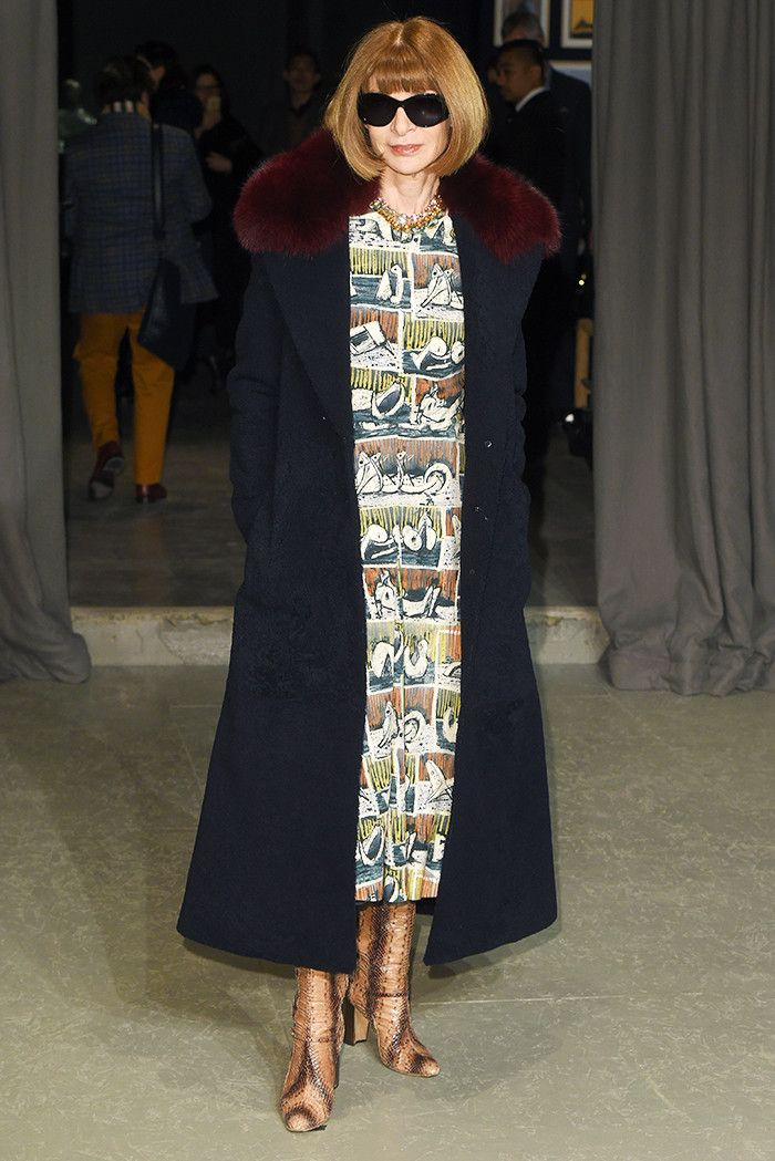 Best dressed London Fashion Week February 2017: Anna Wintour