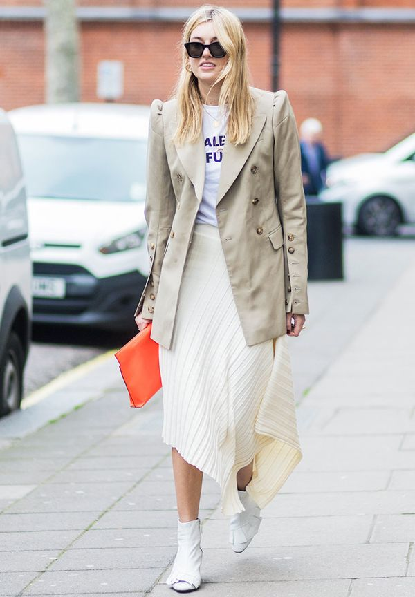 London fashion week February 2017 street style: Camille Charriere