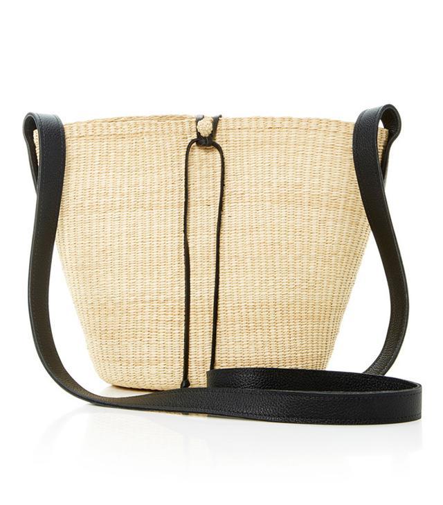 Sensi Studio Straw Bucket Bag