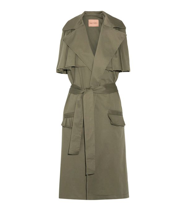 Minimalist fashion: Maggie Marilyn The Brave Ruffle-Trimmed Stretch Cotton-Twill Gile