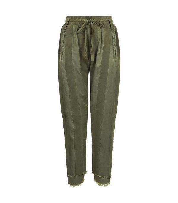 Minimalist fashion: Haider Ackermann Khaki Polonium Striped Joggers