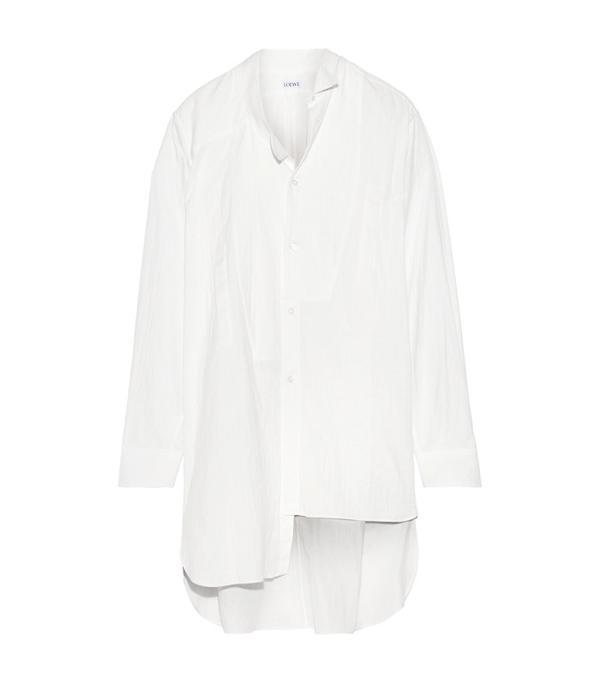 Minimalist fashion: Loewe Oversized Asymmetric Cotton-Gauze Shirt