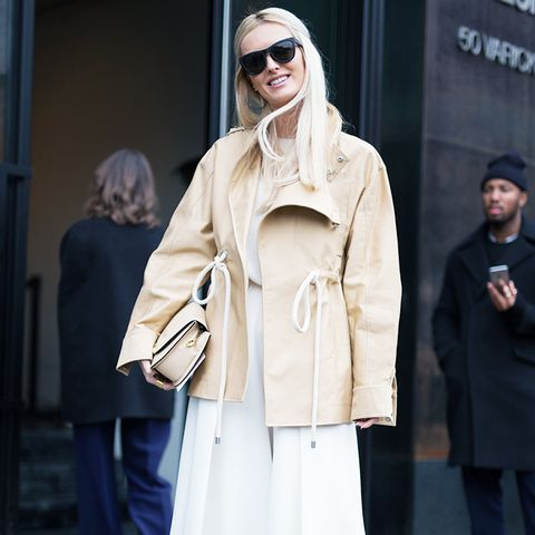 Minimalist fashion: all-white outfit