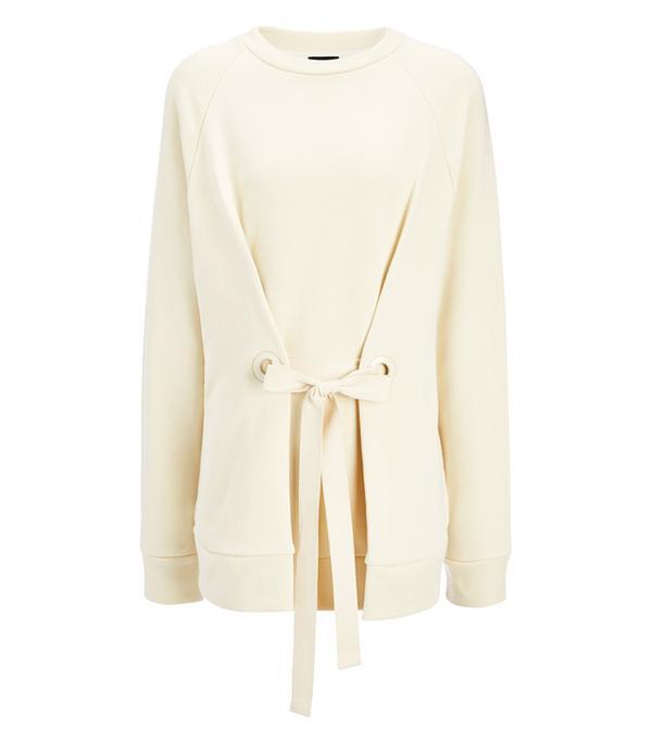 Minimalist fashion: Theory Hudina Fringed wool-Blend Sweater