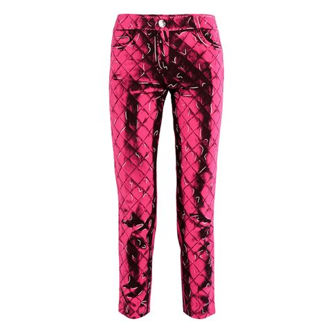 Printed Slim-Leg Pants