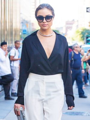 Olivia Culpo Just Wore the Perfect Shirt From H&M