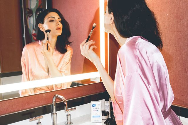 KA:As for my beauty routine, it stayed the same in some ways and changed in others, like paying extra attention to taking care of my skin. I easily break out under pressure, so I made sure I...