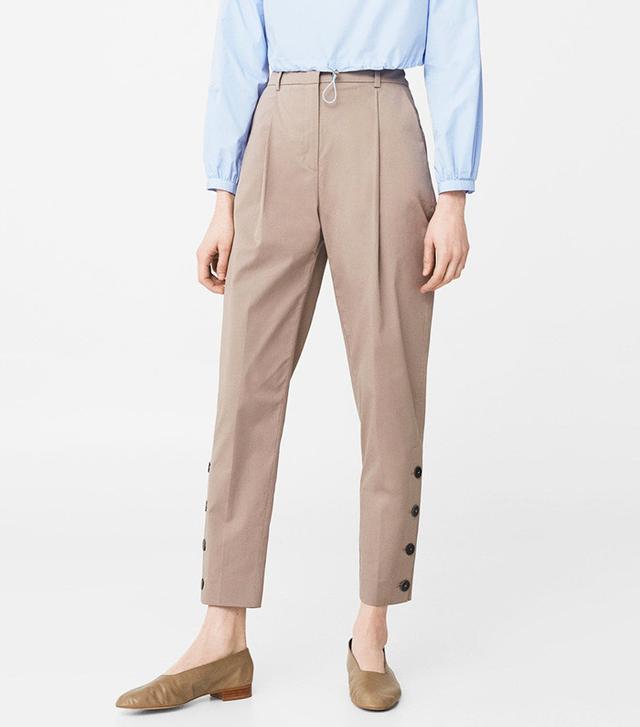Mango Side Button Trousers
