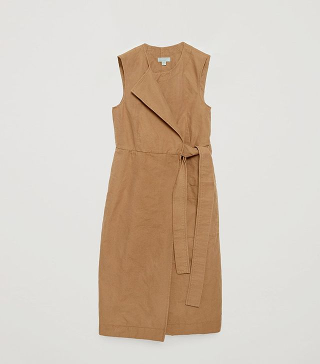 COS Wrap-Over Canvas Dress