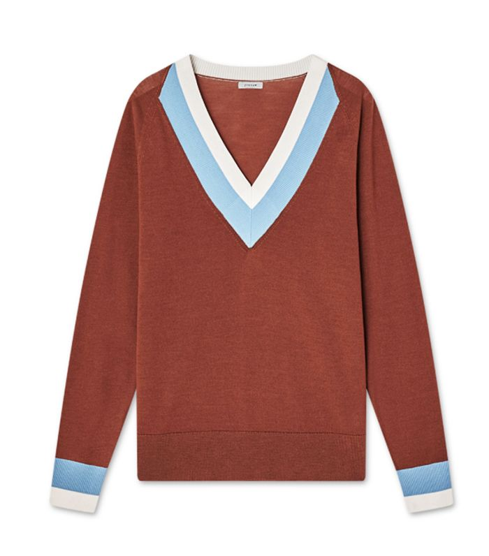 Jigsaw Varsity Stripe  Sweater