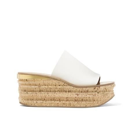 Camille Leather Platform Sandals
