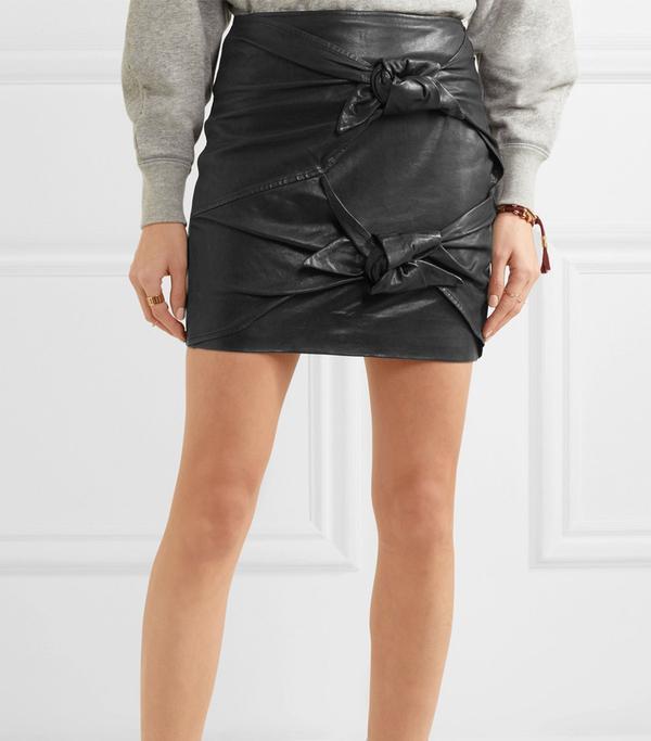 Gritanny Leather Mini Skirt