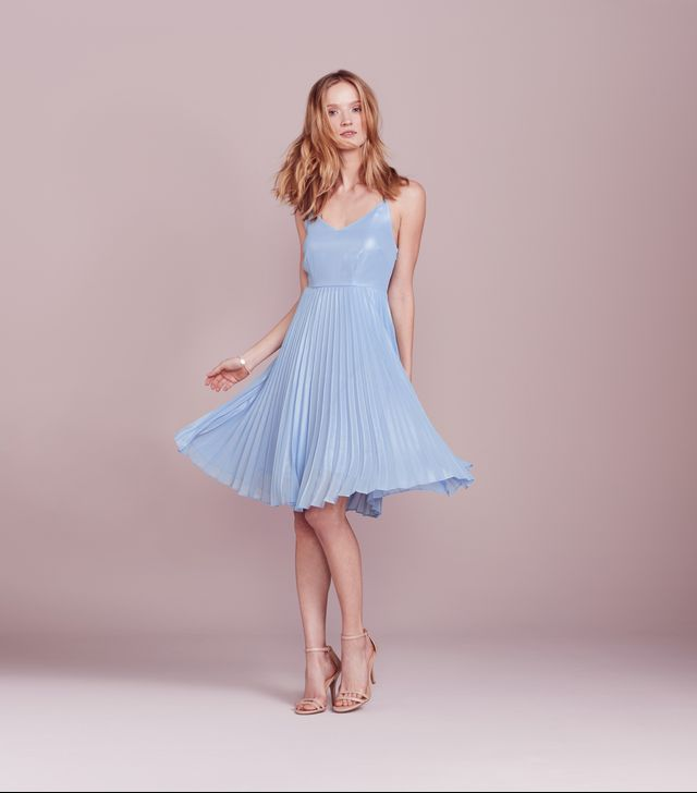 LC Lauren Conrad Dress Up Shop Collection Pleated Metallic Dress