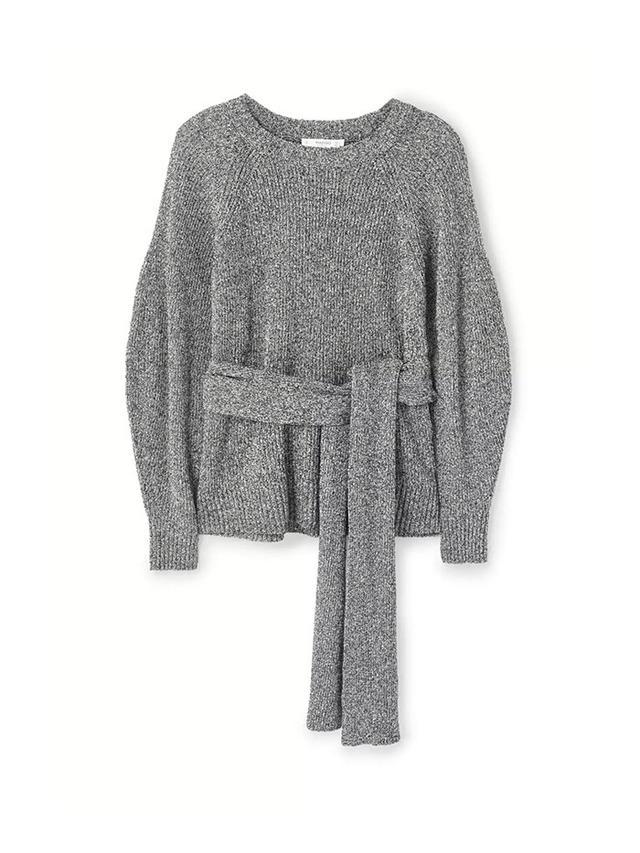 Mango Flecked Belt Sweater