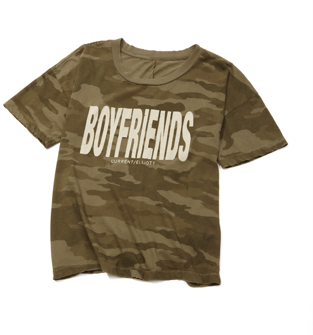 Current/Elliott Boyfriends Camo Roadie Tee
