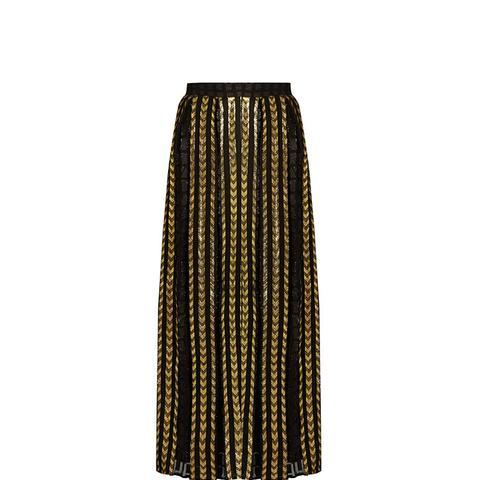 Brenda Fil Coupé Maxi Skirt