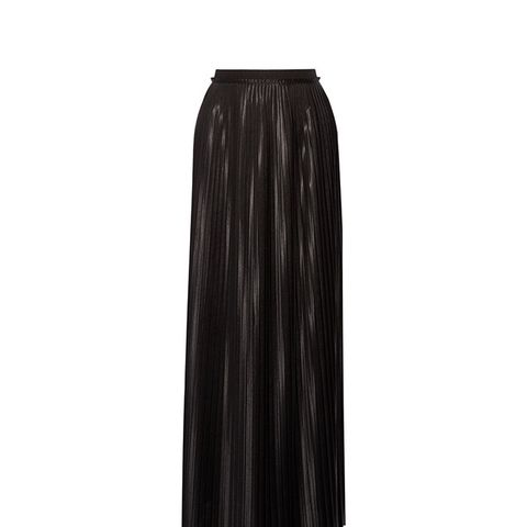 Doha Pleated Charmeuse Maxi Skirt