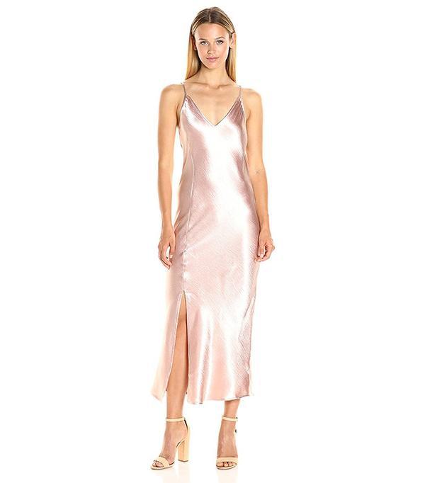 JOA Women's Midi Slip Dress