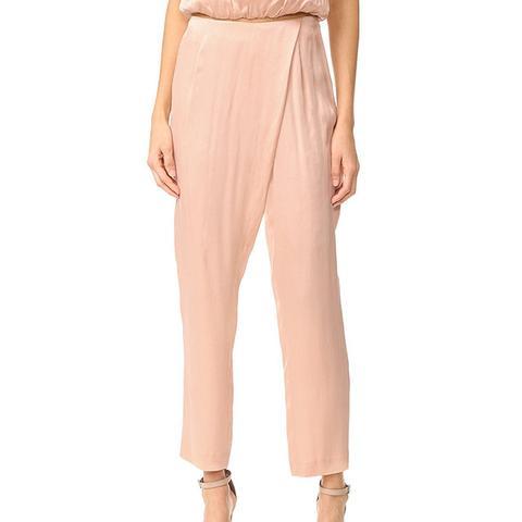 Women's Silk Draped Trousers