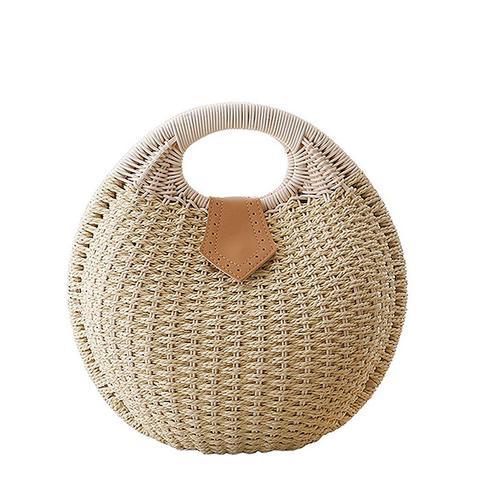 Women Hand-Woven Straw Shell Clutch Bags