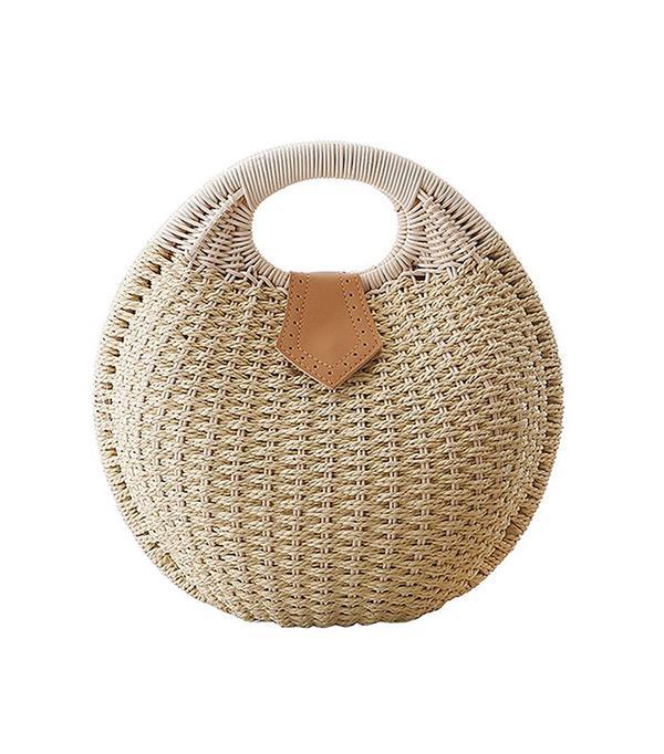 Cunada Women Hand-woven Straw Shell Clutch Bags