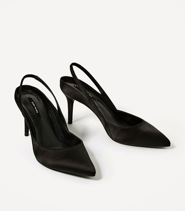 Zara High Heel Slingback Shoes
