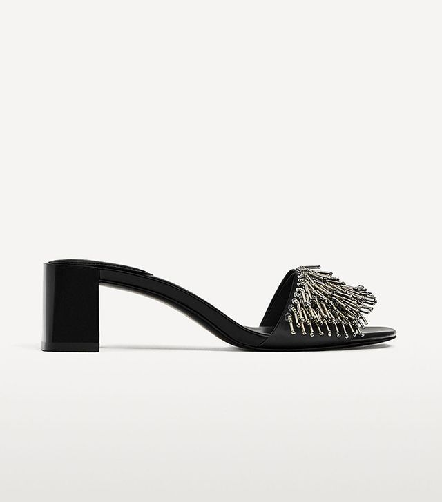 Zara Sandals with Metallic Details