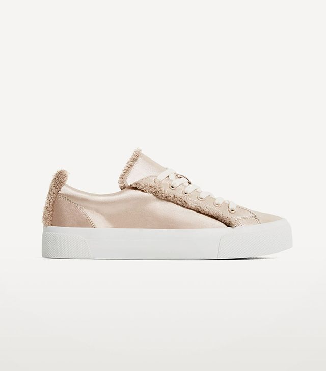 Zara Fabric Plimsolls