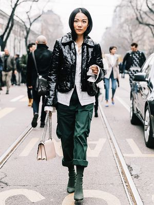 This Challenging Trend Is Dominating Fashion Week Street Style