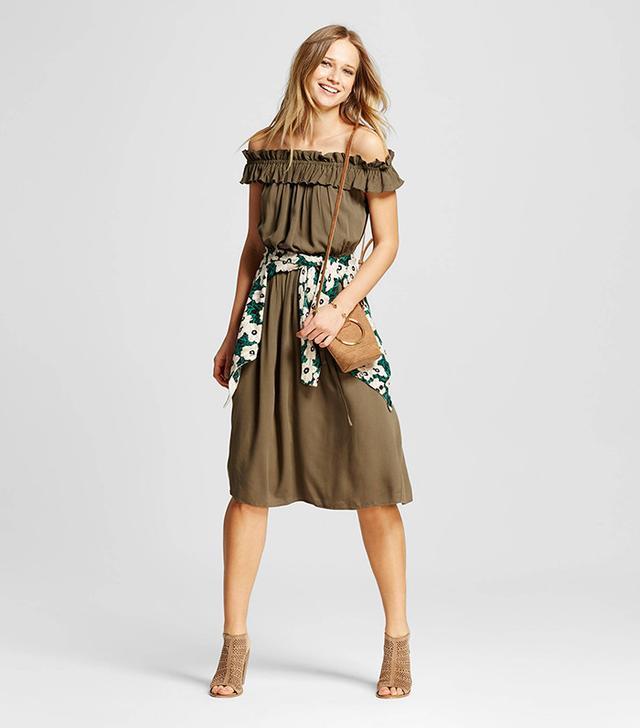 Who What Wear Bardot Midi Dress