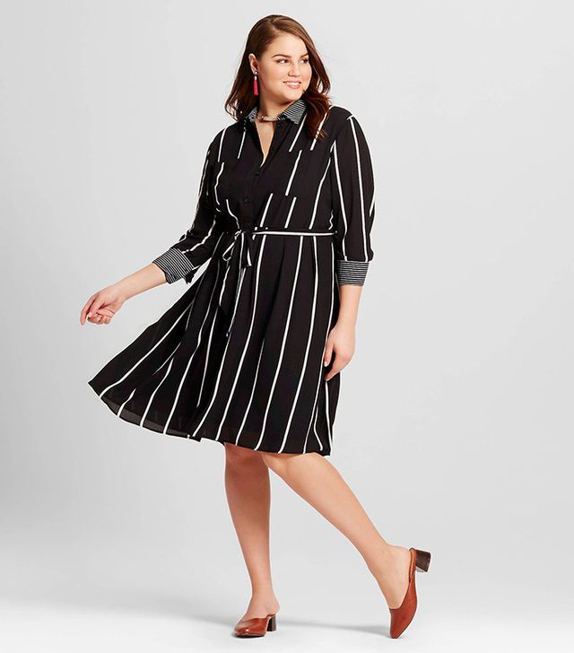 Who What Wear Plus Size Button Up Shirtdress