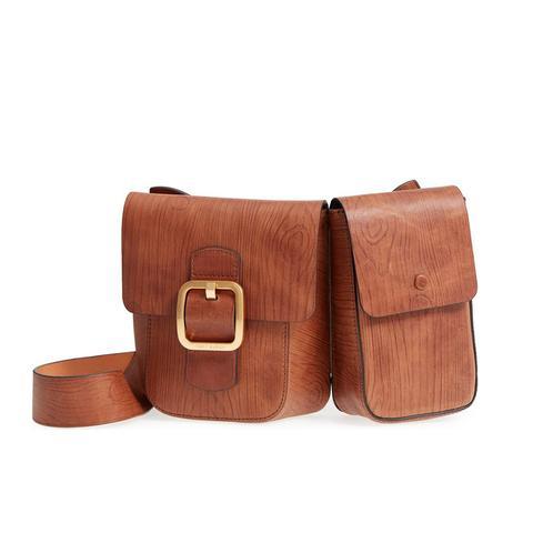Sawyer Double Pocket Leather Shoulder Bag