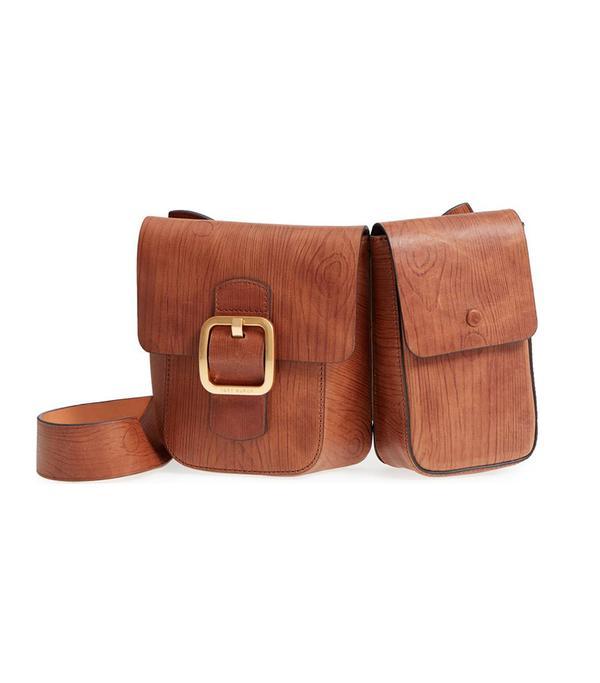Sawyer Double Pocket Leather Shoulder Bag -