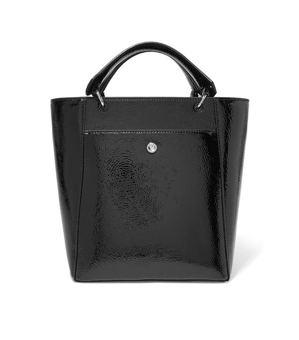 Eloise Small Faux Patent Textured-leather Tote