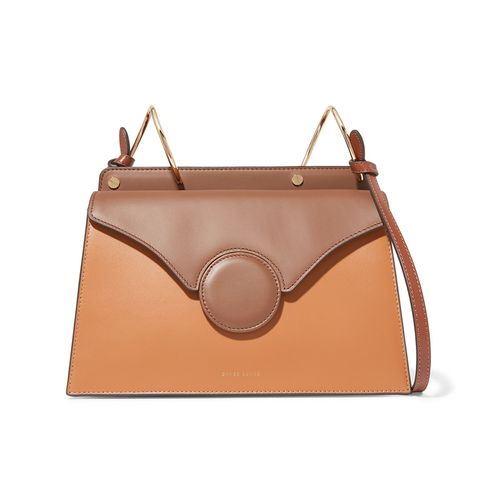 Phoebe Two-Tone Leather Shoulder Bag