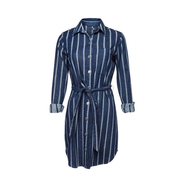 7 for All Mankind Belted Shirt Dress